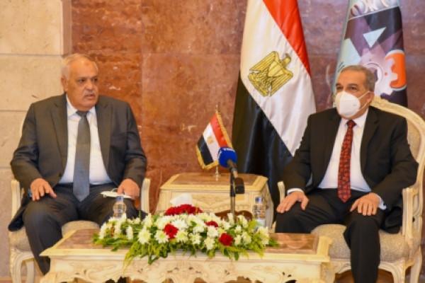رئيس الهيئة العربية للتصنيع يستقبل وزير الدولة  للإنتاج الحربي الجديد