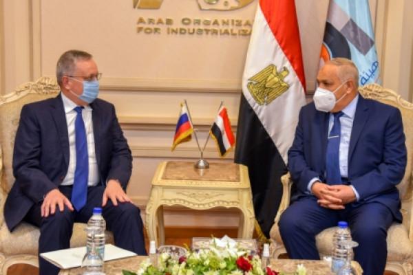 الهيئة العربية للتصنيع تستقبل سفير روسيا