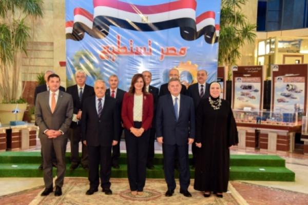 اجتماع موسع لوزراء الهجرة والصناعة وقطاع الاعمال ورئيس العربية للتصنيع