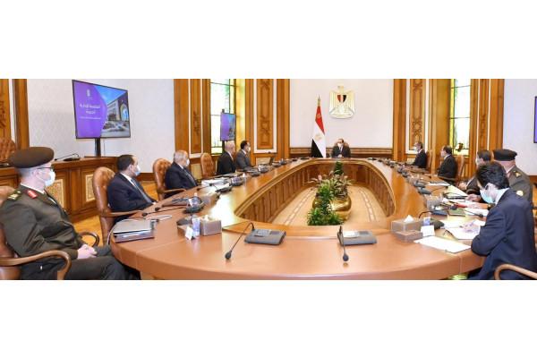 مشاركة رئيس العربية للتصنيع في الإجتماع الرئاسي لمتابعة خطة إنتقال الحكومة للعاصمة الإدارية