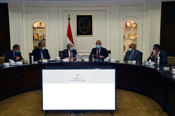 "The Minister of Housing and Military Production and the President of the Arab Organization for Industrialization are discussing ways to provide ""a dignified life"" tasks"