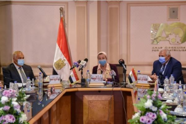 وزيرة البيئة ورئيس العربية للتصنيع ومحافظ الوادي الجديد  يوقعون  بروتوكول تعاون في مجال الإدارة المتكاملة لإدارة المخلفات