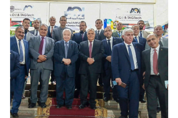 Launching the production lines for the first Arab product of tablets and laptops in partnership between the Arab Organization for Industrialization and the Talal Abu-Ghazaleh Global Group