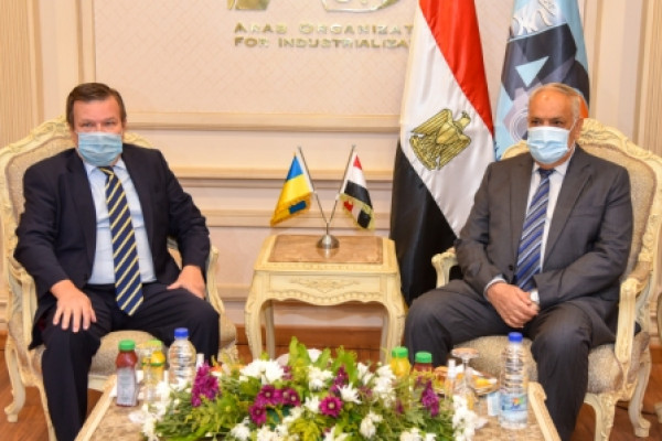 The Arab Organization for Industrialization receives the Ambassador of Ukraine