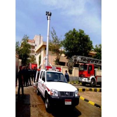 نظام إطفاء تليسكوبي على سيارات الإطفاء والإنقاذ
