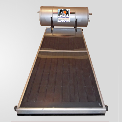 السخانات الشمسية بنظام المجمعات المسطحة سعة 150 ' 300 ' 500 لتر