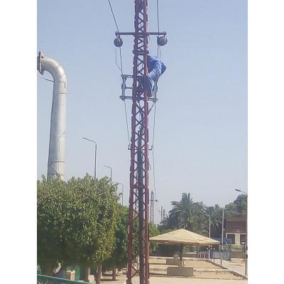 ابراج هيكيلية لتحميل الكهرباء ذات الضغط المتوسط